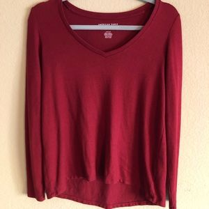 AE Soft and Sexy Plush Long Sleeve Red